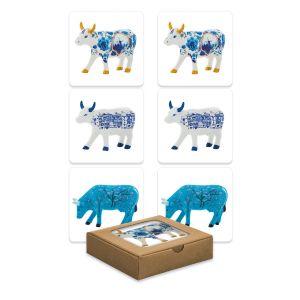 Coasters True Blue (set of 3 x 2)