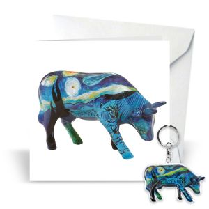 Card & Keyring - Vincent's Cow