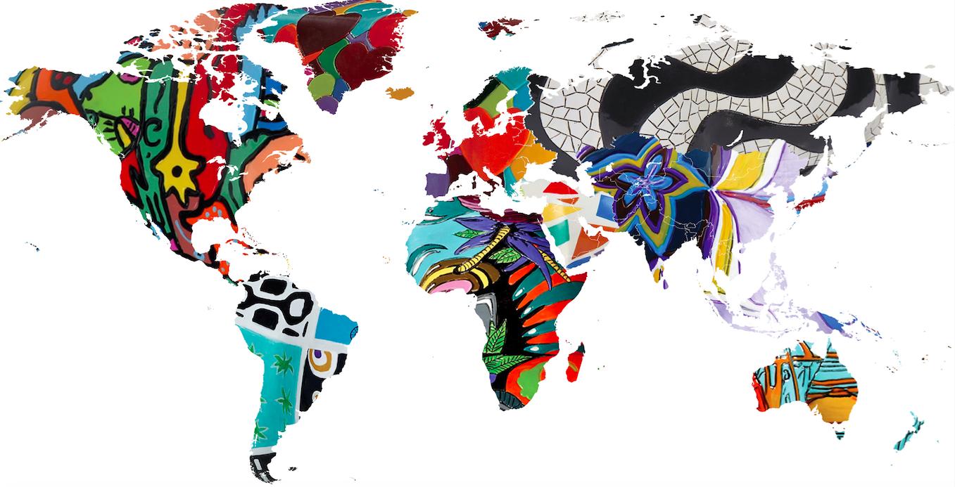 CowParade world map